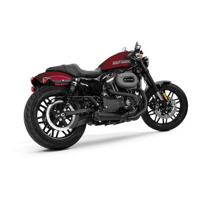 Two Brothers Racing 2-Into-1 Comp-S Exhaust for 2014-2017 Harley Sportster - Black with Carbon Fiber Tip