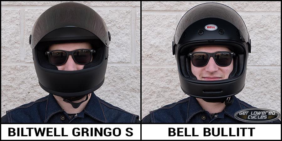 Biltwell Gringo Helmet >> Biltwell Gringo S and Bell Bullitt Helmet Comparison - Get Lowered Cycles