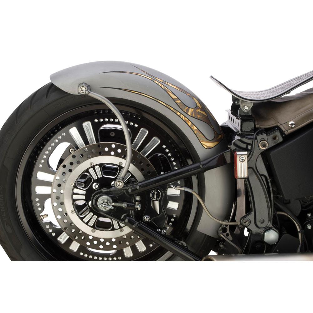 Harley Softail Fenders : Custom chrome rigid style lucky sucker rear fender for