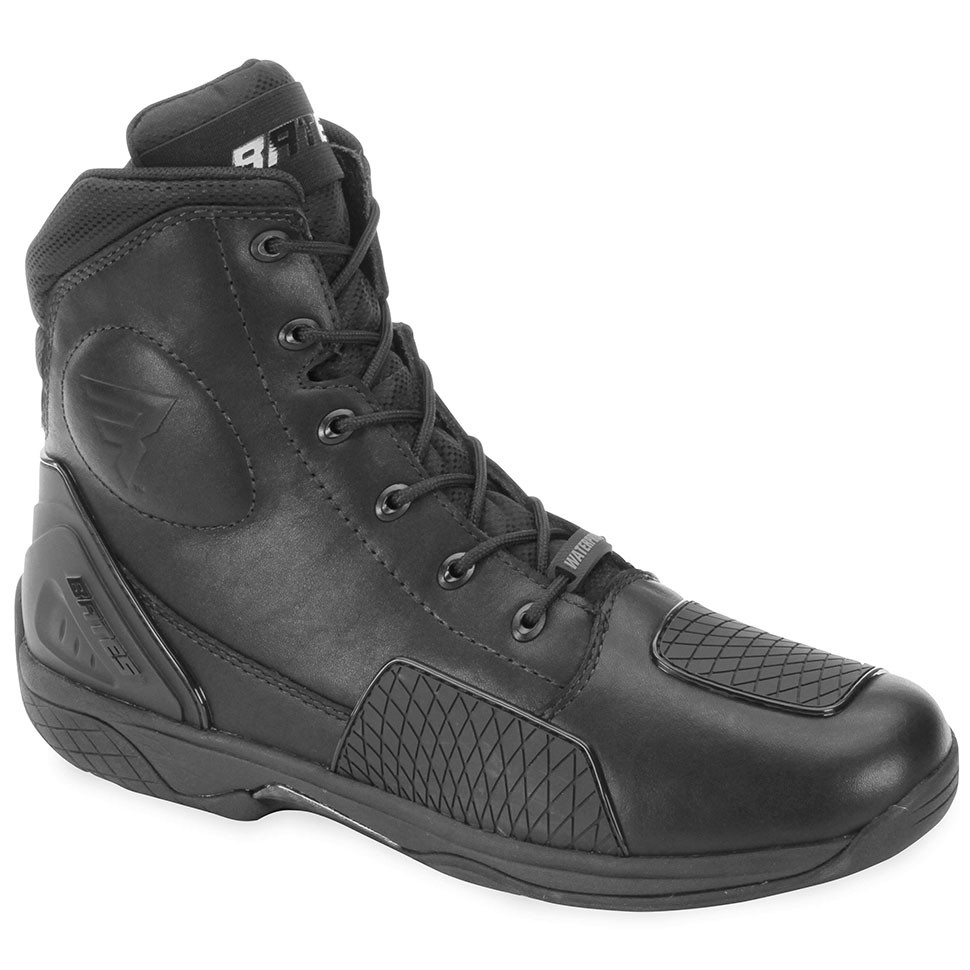 bates adrenaline black leather motorcycle boots get