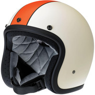 Biltwell Bonanza Helmet - Limited Edition Racer - Flat Cream/Orange