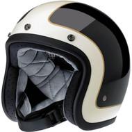 Biltwell Bonanza Helmet - Limited Edition Tracker - Black/Vintage White
