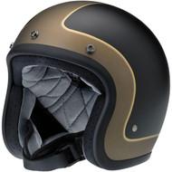 Biltwell Bonanza Helmet - Limited Edition Tracker - Black/Grey/Gold