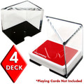4 Deck Professional Grade Acrylic Discard Holder with Top