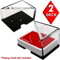 2 Deck Professional Grade Acrylic Discard Holder with Top