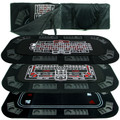 3 in 1 Poker/Craps/Roulette Tri Fold Table Top