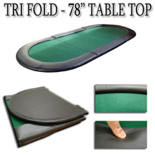 Play Poker Anywhere With This Tri Fold Poker Table Top. Easily Fits In The