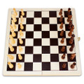 Portable Wooden Folding Chess Game with Staunton Pieces