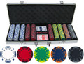13.5g 500pc Z Striped Clay Poker Chip Set