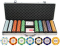 13.5g 500pc Monte Carlo Clay Poker Chips Set