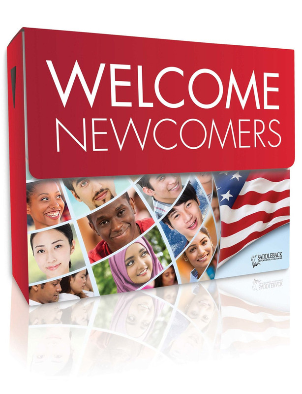 Welcome Newcomers Library (3 each of 28 titles, 140 vocab cards, and a teacher's guide)