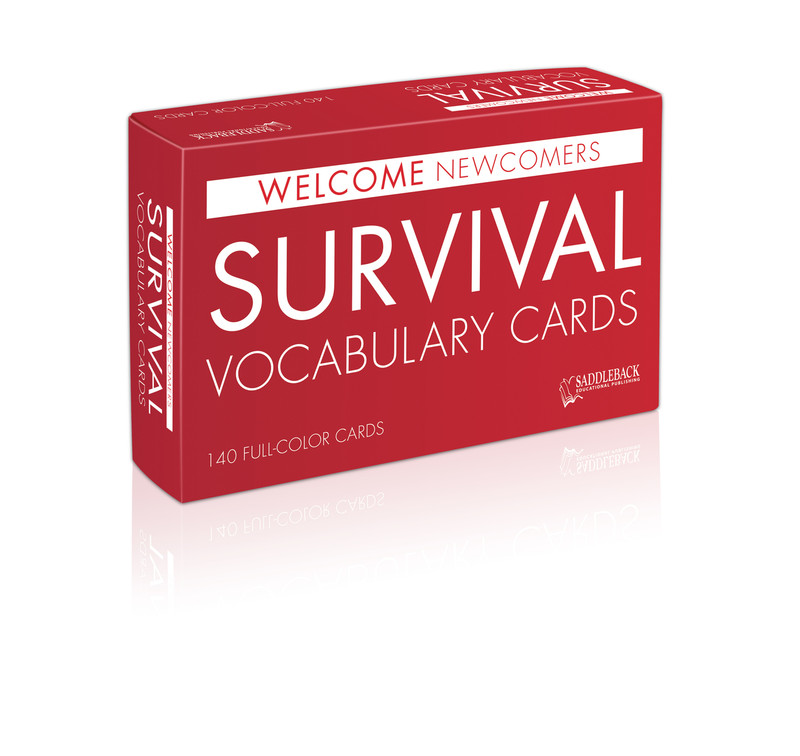 Welcome Newcomers: Survival Vocabulary Cards (140 cards)
