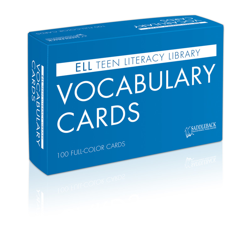 ELL Teen Literacy Library Vocabulary Cards (100 Cards)