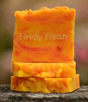 Firefly Frenzy Goat Milk Soap Slice