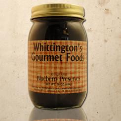 Whittington's Gourmet Foods - Blueberry Preserves, No Sugar Added