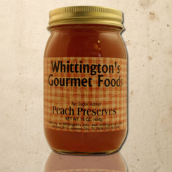 Whittington's Gourmet Foods - Peach Preserves, No Sugar Added