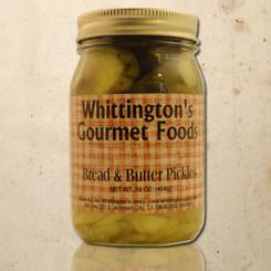Whittington's Gourmet Foods - Bread & Butter Pickles