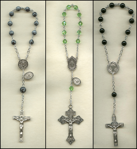 custom, one decade rosary, 1 decade rosary, rosaries