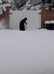 carmelite nun shoveling snow