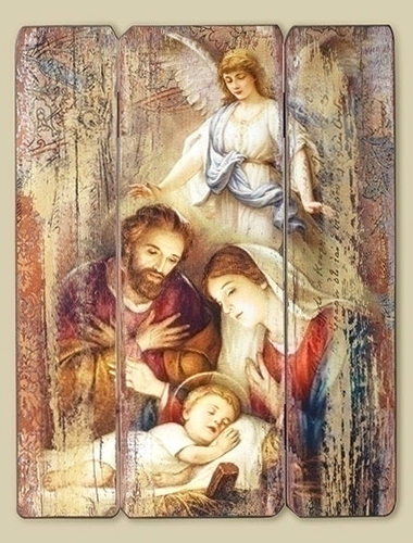 holy family picture, wall plaque, decoration