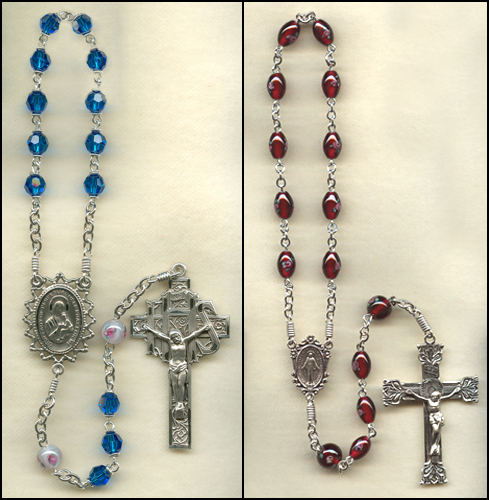 1 decade rosary, one decade rosary, rosaries, custom