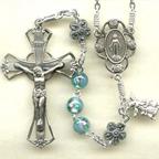Aqua lampwork Rosary