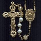 Fancy Pearl Rosary