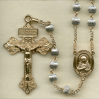 Sterling Silver Corrugated Rosary