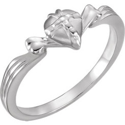 Sterling silver gift wrapped heart ring