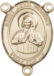 "St. John Vianney  - .75"" Oval - Gold Filled Centerpiece"