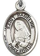 """St. Madeline Sophie Barat - .50"""" Oval - Sterling Silver Side Medal"""