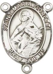 """St. Maria  Goretti  - .75"""" Oval - Sterling Silver Centerpiece"""