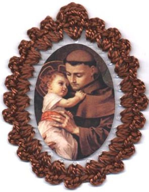 St. Anthony of Padua relic badge