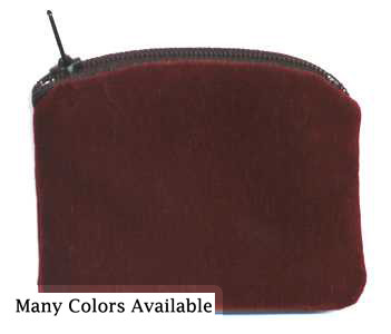 Maroon velvet rosary case / rosary pouch