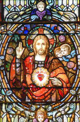 Sacred Heart - Sacred Suncatcher - stained glass reproduction