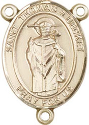 """St. Thomas Becket   - .75"""" Oval - Gold Filled Centerpiece"""