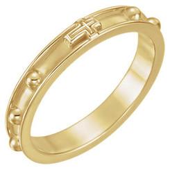 Beveled Rosary Ring