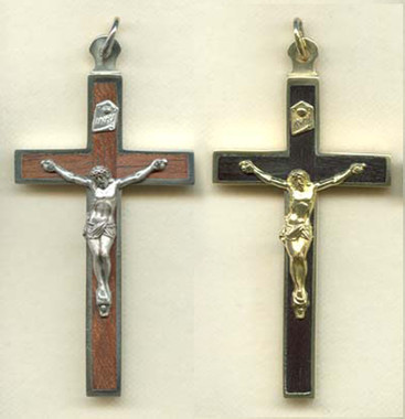 Wood Back crucifix