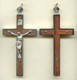 Rosewood and Nickel Silver Crucifix