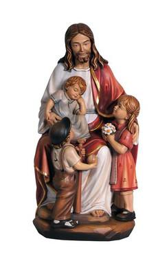Jesus with the Children Statue