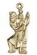 St. Christopher figurine medal gold filled