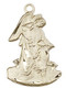 .875 gold filled Guardian angel medal