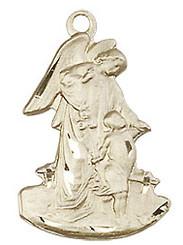 "Guardian Angel Figurine - .875"" - Gold Filled"