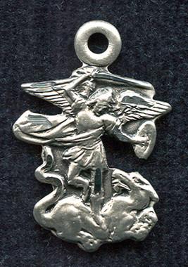 St. Michael figurine medal