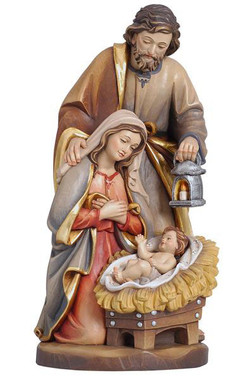 Holy Family with Crib Statue