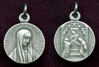 St. Catherine / Our Lady of the Rosary Medal