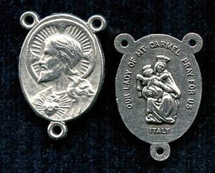 Scapular - .875 - Nickel Silver Centerpiece