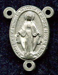 "Miraculous Medal - .625"" - Nickel Silver Centerpiece"