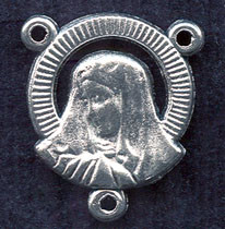 "Our Lady of Sorrows - .75"" - Nickel Silver Centerpiece"