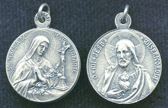 St. Therese of the Child Jesus / Sacred Heart of Jesus Medal